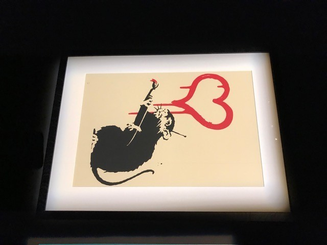 "BANKSY - ""Love Rat"" 2004"